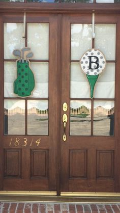 Golf burlap door hangers www.facebook.com/arttogeaux1