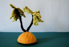 Knit your own Tiny Tropical Island pdf knitting by ButterflyLove1