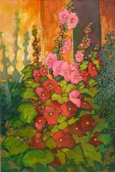 Matthews Gallery Phil  Daves Hollyhock Sunrise