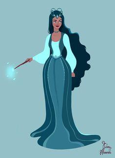 Rowena Ravenclaw from Harry Potter, fanart by Victoria Alessandri