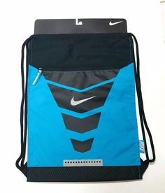 NIKE Vapor Gymsack Aqua Blue Athletic Cheer Book Bag Satchel Tote Drawstring…