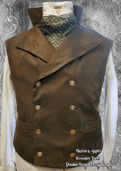44 / 46 chest Distressed brown  double by Harlotsandangels on Etsy, $120.00