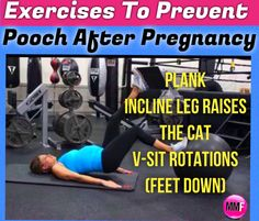 These pregnancy exercises will help you tons to prevent having a postpartum pooch and looking pregnant when you are not anymore. These pregnancy core exercises are safe to do in any trimester and will really help you have a flat belly again after pregnancy.  http://michellemariefit.publishpath.com/what-exercises-prevent-the-postpartum-pooch