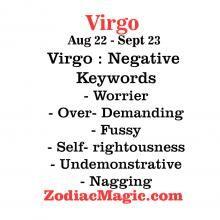 Virgo - Negative Keywords