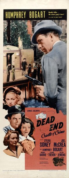 """Dead End"" (1937) Humphrey Bogart, Leo Gorcey, Huntz Hall & the Dead End Kids"
