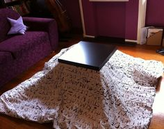 "Make your own Japanese ""kotatsu"" with this IKEA hack!"