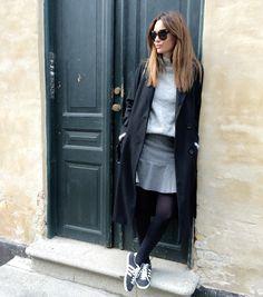 Adidas gazelles long coat short skirt