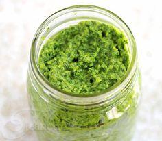 Garlic Scape, Cilantro, Swiss Chard Pesto Recipe {CSA Box Recipe} - Jeanette's Healthy Living