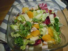 Ensalada de naranja, pavo y melón