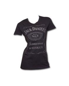 MainMerch Women's Jack Daniel's Old No. 7 Raised Label T-Shirt