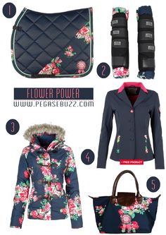 www.pegasebuzz.com | Equestrian Fashion : Subscribe Equestrian Sportswear. I don't really like floral but this it's surprisingly cute !