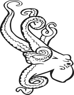 Coloring page octopus – coloring picture octopus. Free coloring sheets to print … – Octopus Tattoo Octopus Coloring Page, Ocean Coloring Pages, Dragon Coloring Page, Preschool Coloring Pages, Easy Coloring Pages, Free Coloring Sheets, Alphabet Coloring Pages, Animal Coloring Pages, Coloring Pages To Print
