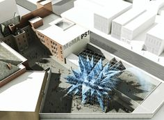 Wendy by HWKN. Architects HWKN have won this year's MoMA/P.S.1 Young Architects Program competition and will install a giant spiky structure that cleans the air in the courtyard of the P.S.1 Contemporary Art Centre in New York.