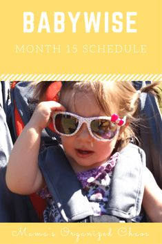 Babywise schedule month for baby around 15 months of age. On this page you'll find schedules, information on naps, nighttime sleep, and more! Baby Schedule, Toddler Schedule, Mom Advice, Parenting Advice, Parenting Teens, Baby Wise, Toddler Activities, Toddler Learning, Learning Activities