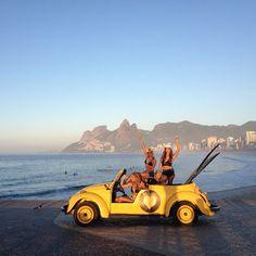 Surf girls, in Rio de Janeiro...