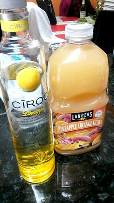 Ciroc Pineapple with pineapple/orange/guava juice...nice fruity drink