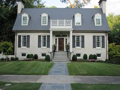 Picturesque Renovated Brick House Design of Hunsett Factory by Acme: White Color Style Of Painted Brick House Design