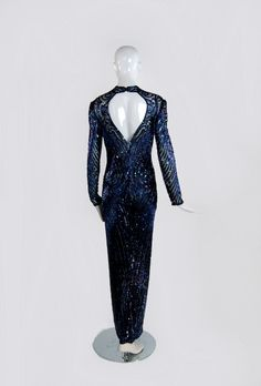 1980s Bob Mackie Sequined Gown