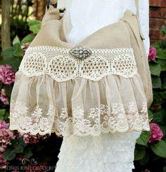 Vintage Lace Messenger Bag