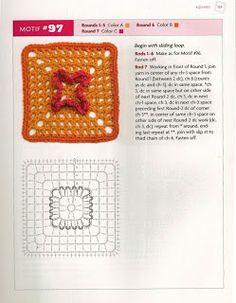 """MOSSITA BELLA CROCHET PATTERNS AND GRAPHICS"" Beyond The Square Crochet Motifs"