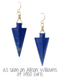"1.35"" Blue Lapis Arrow, 14k gold filled earwires, 2.25"" long"