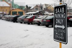 SAAB PARKING ONLY