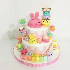 Num Noms party for girls Cool Birthday Cakes, 6th Birthday Parties, 2nd Birthday, Birthday Ideas, Nom Noms Toys, Easter Bunny Cake, Mom Cake, Fondant, Novelty Cakes