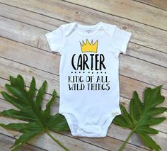 Where the Wild Things Are, Personalized Birthday Shirt, King of all Wild Things, Wild things Party, Wild Things shirt, Custom Wild Things by BellaLexiBoutique on Etsy https://www.etsy.com/listing/503129083/where-the-wild-things-are-personalized