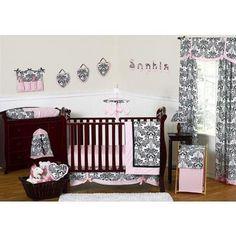 Amazon.com: Sweet Jojo Designs Flower Pink and Green Collection 11-Piece Crib Bedding Set: Baby