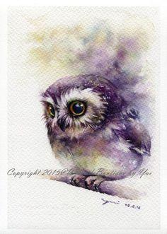 PRINT Twinkle eye Watercolor painting 7.5 x 11 by WaysideBoutique