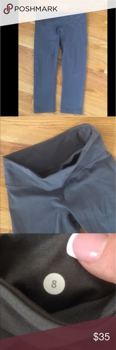 Lululemon Crop Capri's Gray Lululemon Crop Capri's. Size 8. Excellent condition. No stains or holes. Comes from a smoke and pet free home. lululemon athletica Pants Ankle & Cropped