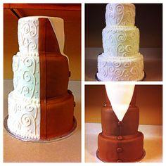 Grooms/wedding cake brown tux