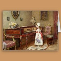 The Piano Room Greeting Card