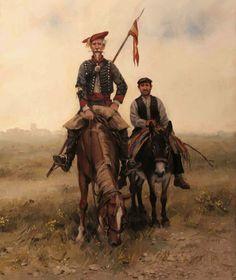 """neoprusiano: """" @Neoprusiano Don Quijote de La Mancha carlista y Sancho Panza Don Quixote of La Mancha carlist and Sancho Panza Augusto Ferrer-Dalmau Nieto (1964- ) """""""