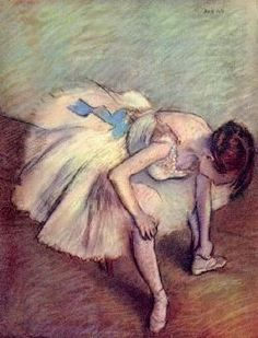 Degas Ballerina  We live for Degas's work! Great inspiration for Short Wedding Dresses