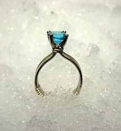 Make a wire wrapped Solitaire Ring. It's easier than you think.