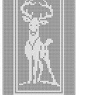 968 Deer Filet Crochet Doily Tablemat Wallhanging Afghan Pattern