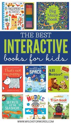 Some of the best books for kids are interactive books. They entertain young readers who can't yet sit through an entire book, and they involve children in the story they're telling. These Usborne books are some of the best interactive books for kids! Best Books To Read, Good Books, Interactive Books For Kids, Interactive Notebooks, Maze Book, Up Book, Kids Reading, Reading Books, Reading Lists