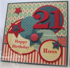 21st Birthday Card Male