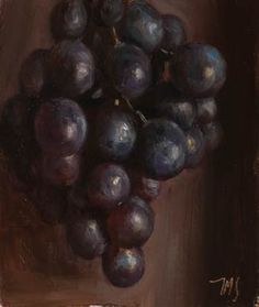 painting of Muscat grapes