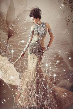 sparkle fashion gown. Love the sparkle, glitz and glam