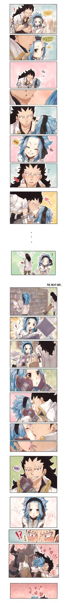 This is more like a kissing war tho but Gajeel can't win. After this, they…