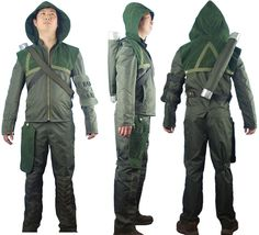 Green Arrow Oliver Queen Connor Hawke cosplay costume hoodie jacket outfit sweatshirt kostüm pre-made or custom-tailored. Designed by Oasis Costume. Video Game Costumes, Comic Con Costumes, Boy Halloween Costumes, Boy Costumes, Super Hero Costumes, Halloween Cosplay, Cosplay Costumes, Costume Ideas, Cosplay Ideas