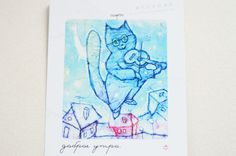 good morning.  FLYER picture  will fulfil your every wish  will say hi to a friend  magic time  2016  #018 rusteam magic time 2016 Best Trends inexplicable perfect fulfillment desires FLYER picture Love Dream Fly gift for friends Romantic Collection a surprise for all fine art creative good morning blue lavender pastel 1.99 USD #goriani