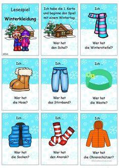 Lesespiel_Winterkleidung _ Ich habe... Wer hat...?