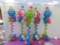 Tea party columns | Balloons by Tommy | #balloonsbytommy