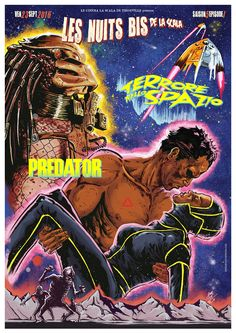 Double Feature movie poster of Planet of the Vampires & Predator by GengisKahn Artwork©.