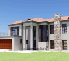 House plans south african double storey - House and home design House Plans Mansion, 4 Bedroom House Plans, Garage House Plans, House Plans For Sale, House Plan With Loft, Contemporary House Plans, Modern House Plans, Modern Contemporary, Double Storey House Plans