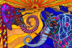 photo of colorful elephant - Yahoo! Search Results  www.phillewisart.com