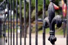 My Dream home would have a wrought iron fence like this! I love it!